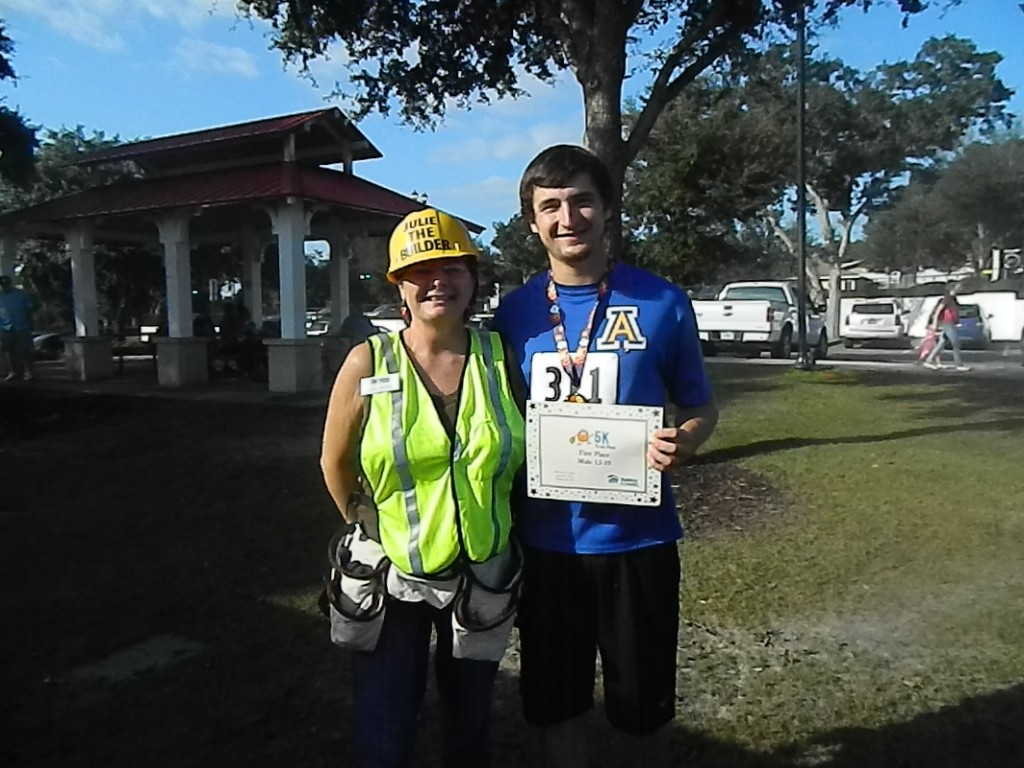 5k15 julie & her son
